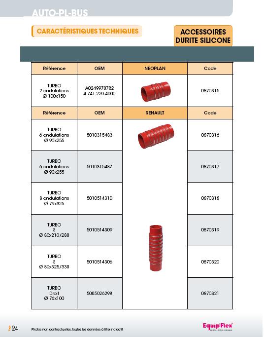 Accessoires durite silicone Renault