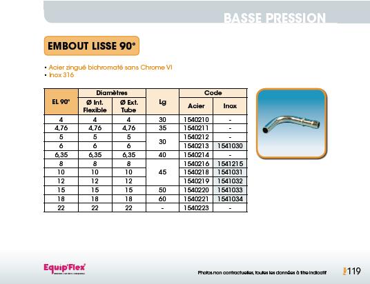 Embout Lisse 90° ACIER/INOX
