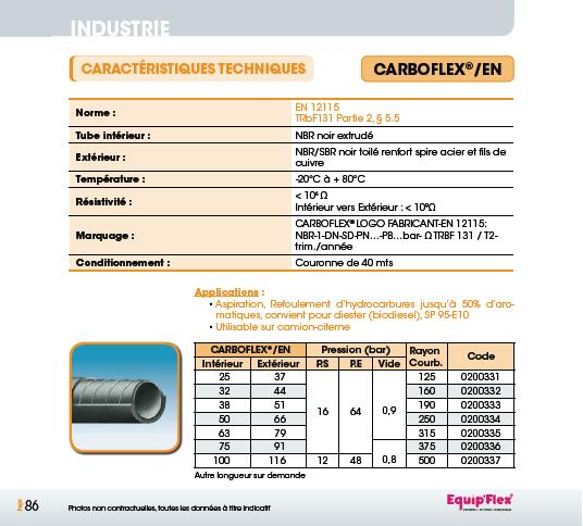 Hydrocarbures Produits, Chimiques Carboflex EN