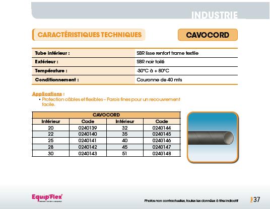 Soudure, Protection câbles et flexibles cavocord