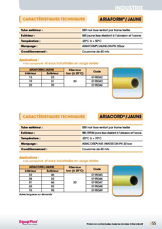 Air, air Ariaform jaune et Ariacord jaune