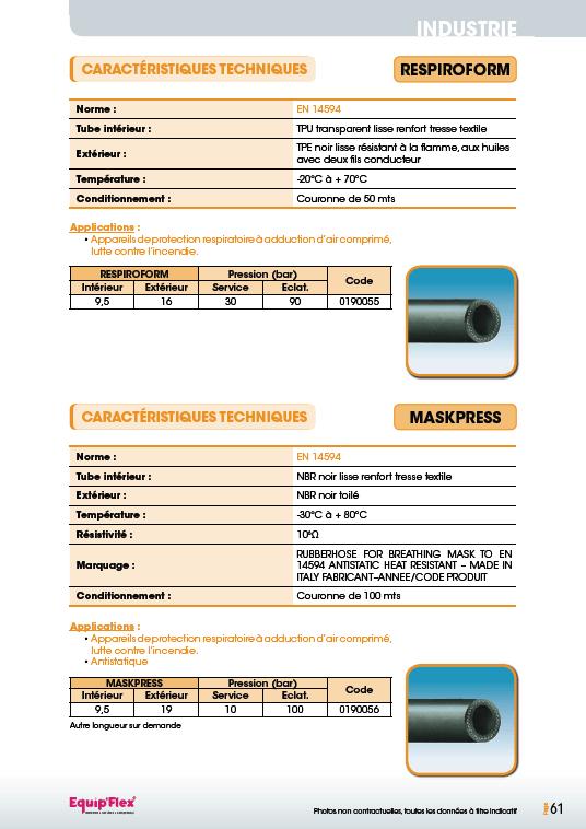 Air, respiroform et maskpress
