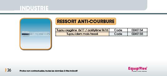 Soudure, Ressort anti-courbure