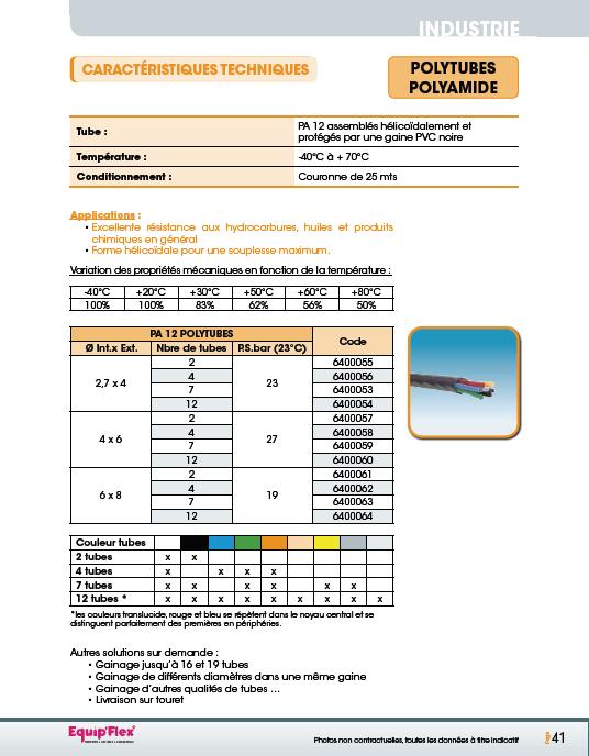 Air, Polyamide PA 12 et polytubes