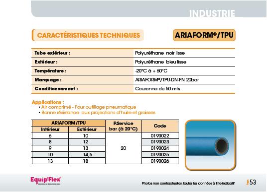 Air, Polyuréthane Ariaform TPU