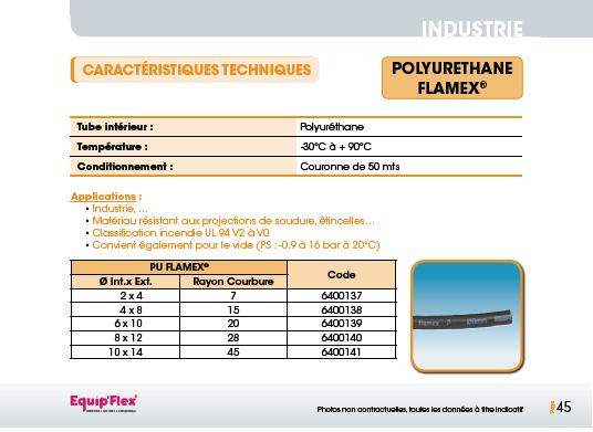Air, Polyuréthane PU flamex