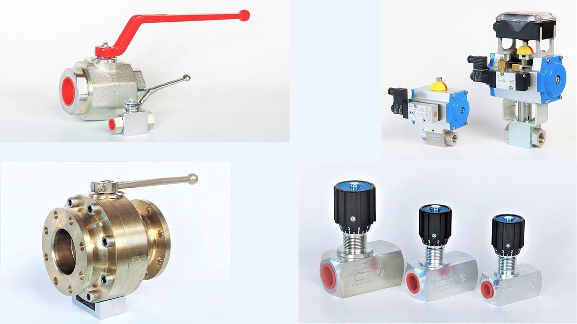 Vannes Hautes Pressions tous Fluides et Gaz, Acier et Inox, Actionneurs Hydrauliques et Pneumatiques...