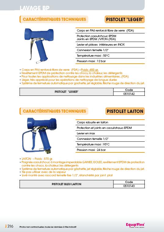 Pistolet léger et laiton