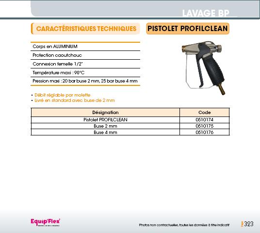 Pistolet profilclean