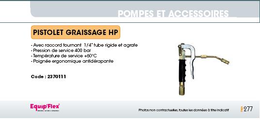 Pistolet graissage HP