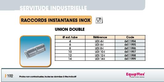 Union double inox