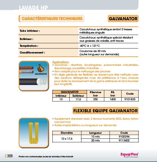 Galvanator et flexible équipé galvanator
