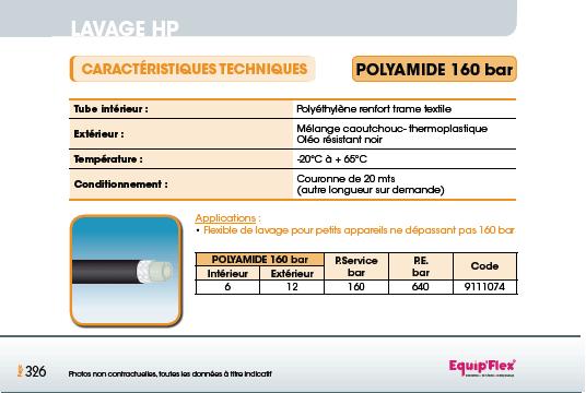 tuyaux Polyamide 160 bar