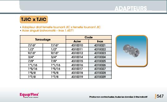 Adaptateur acier inox coude femelle femelle 90° et 45° TJIC x TJIC