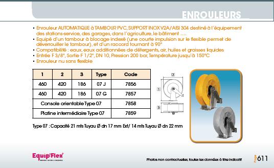 Enrouleurs acier et inox haute pression PVC