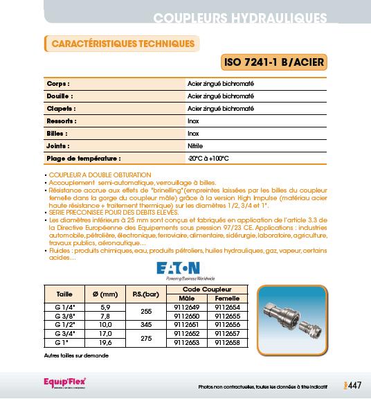 Iso 7241-1 B acier