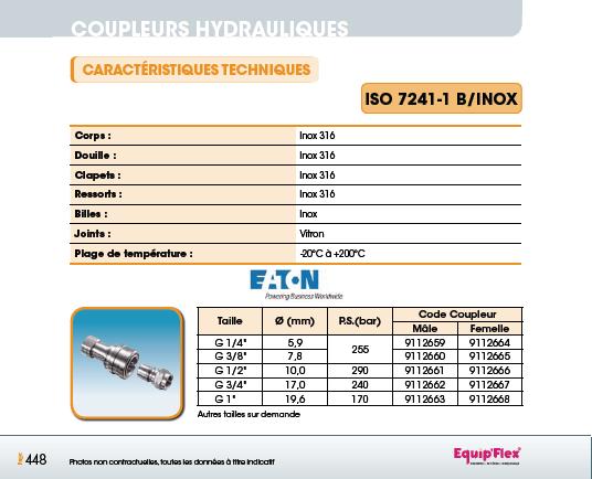 Iso 7241-1 B inox