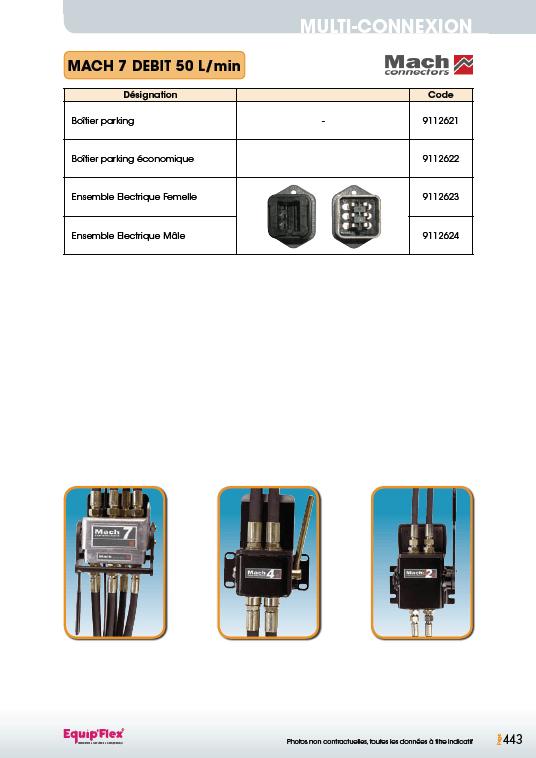 Mach connectors mach 7 débit 50 L par min