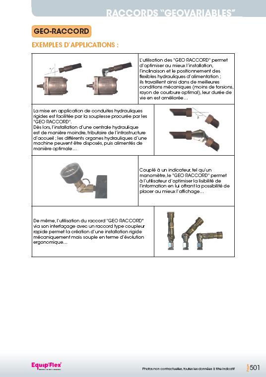 Raccords Géovariables Géo raccords