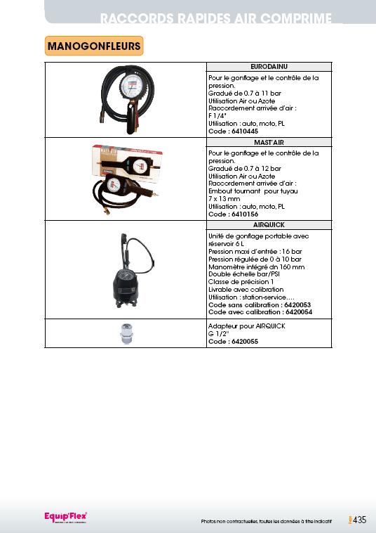 Raccords rapides air comprime accessoires manogonfleur
