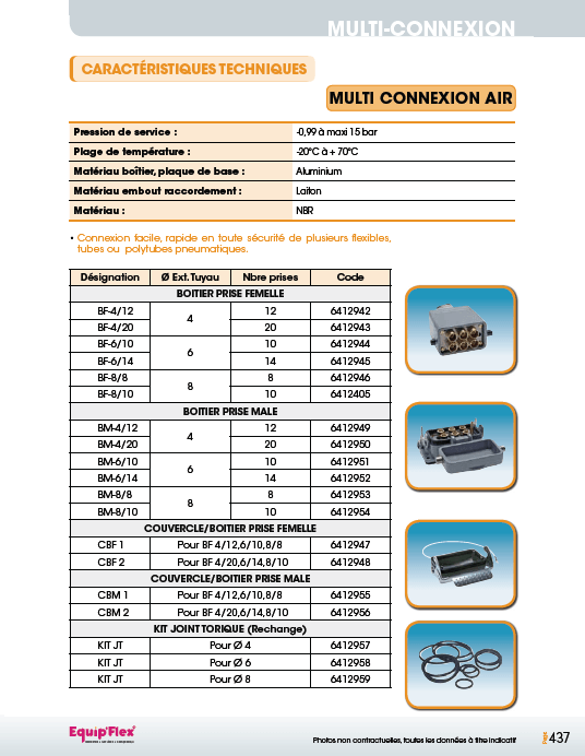 Raccords rapides air comprime multi connexion air