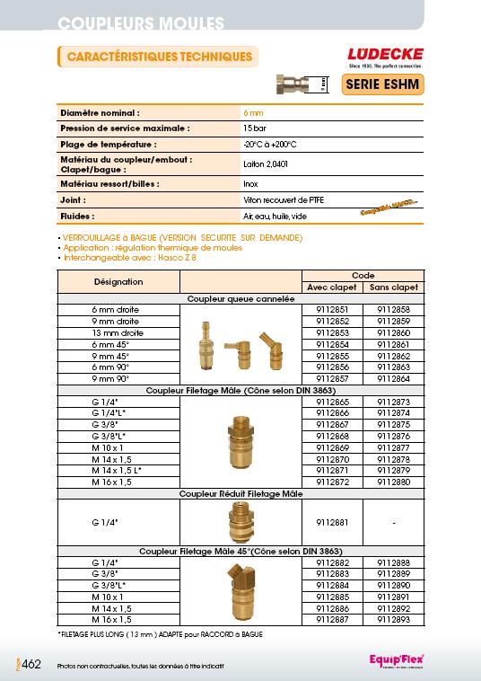 Série ESHM 6 mm laiton