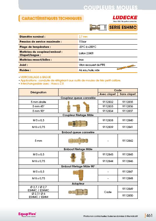 Série ESHMC 2.7 mm