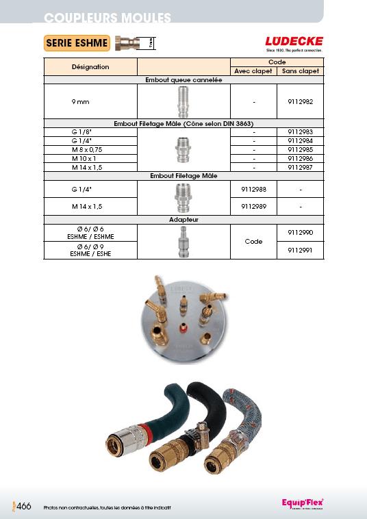 Série ESHME 6 mm inox