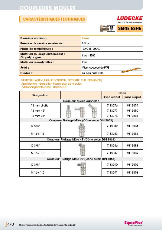 Série ESHSE 9 mm inox