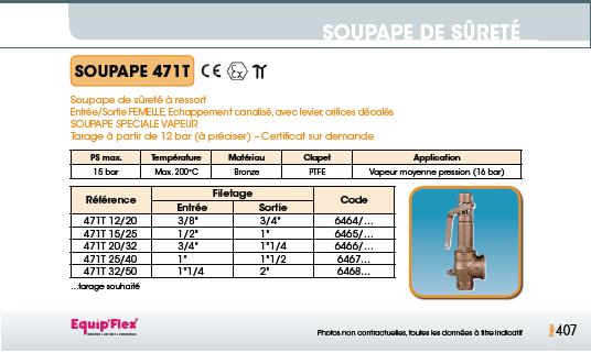 Soupape 471 T