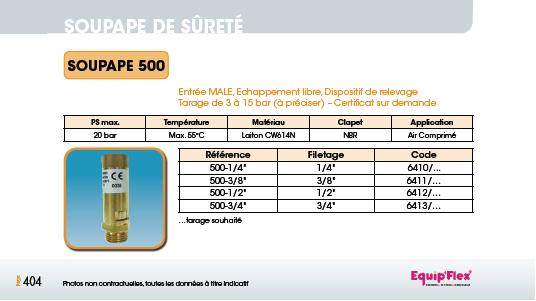 Soupape 500